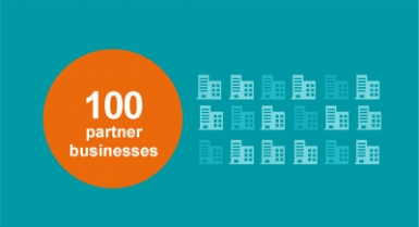 100 partner businesses